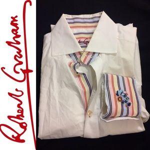 Robert Graham Classic White Shirt